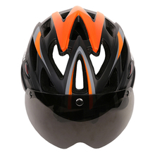 MOON Magnetic Goggles Bicycle Helmet In mold Cycling Helmet With Lens Ultralight Casco Ciclismo Bike Helmet