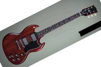 New Avirral China SG Electric Guitar In Brown Color Trepaziod Pearl Style Inlay In Stock