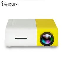 Symrun Portátil Proyector LED Cinema Teatro para PC Portátil USB SD AV HDMI de Entrada Mini Proyector de Bolsillo CE FCC ROHS proyector
