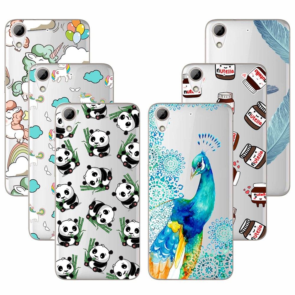 Moda soft tpu case para htc desire 626 626g 626g + cubierta transparente de sili