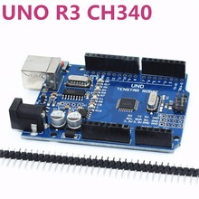 One set TENSTAR ROBOT UNO R3 CH340G+MEGA328P Chip 16Mhz for arduino(China)