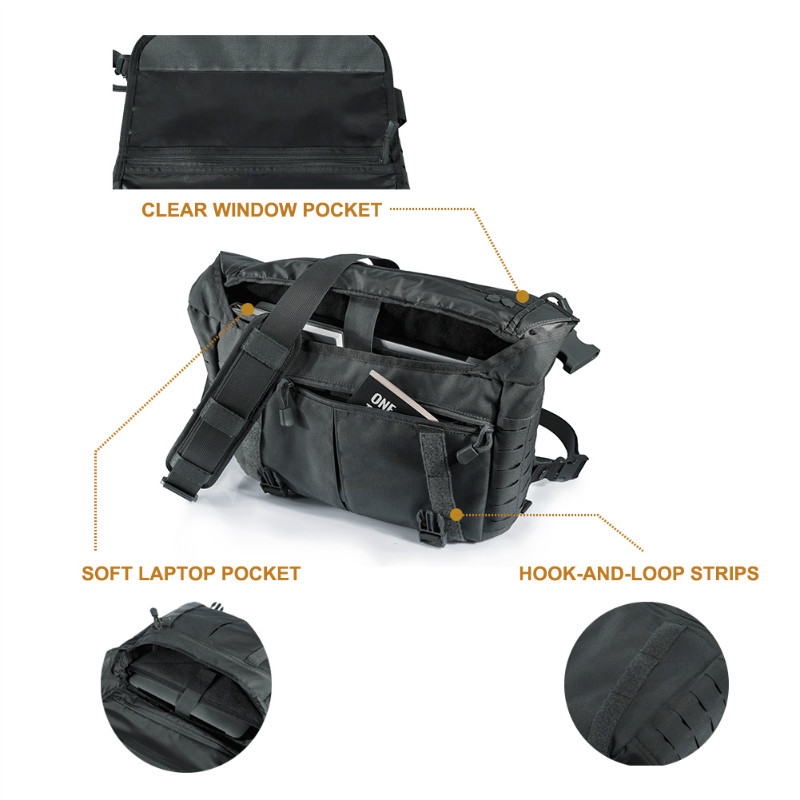 OneTigris HU sac de messager tactique armée militaire sacs à bandoulière pour hommes en plein air Molle pochette d'ordinateur pour la sauvage urbaine - 5