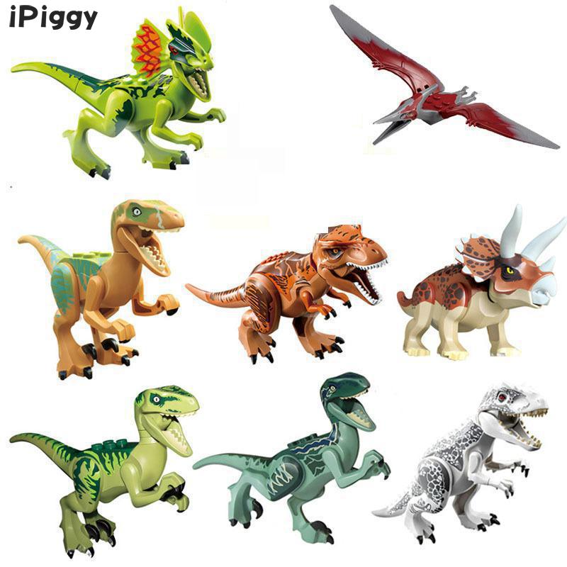IPiggy Single Sale Figures Building Blocks Models & Building Toys Park Of Dinosaurs World Movie Legoings Jurassic Gift For Kids