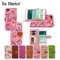 Para prosperar patrón de flor de la cáscara del teléfono móvil para iphone7 7 plus pu color del golpe de cuero hebilla del teléfono case con correa del teléfono ranura para tarjeta