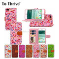 To Thrive Flower Pattern Mobile phone shell For iPhone7 7Plus PU Leather Hit Color Buckle Phone Case With Phone Strap Card Slot