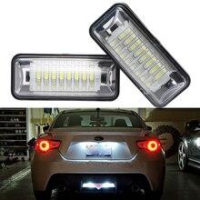 2 шт./компл. GT 86 светодиодный номерных знаков свет лампы сзади регистрационный номер знака Лампа для Toyota 86 GT86 FT86 BRZ SCION FR-S
