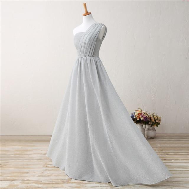Backlackgirl Elegance Hot Cheap Bridesmaid Dress New Arrival One Shoulder  Long Chiffon Wedding Party Goen Plus 21c67fbe4dbf