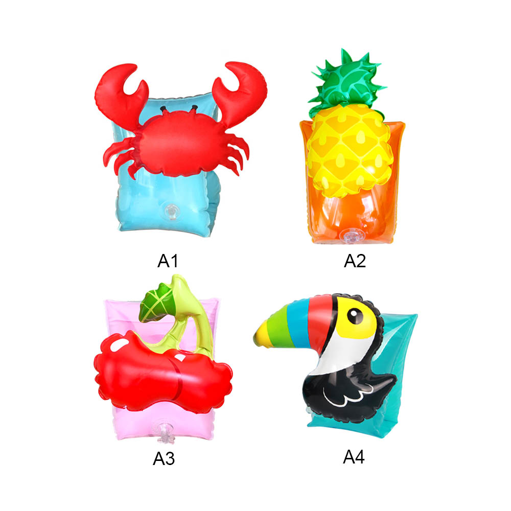 PVC Inflatable Ring Arm Float Baby Arm Ring Children's Pool Safety Swimming Sleeve Pools Water Fun Floating Toy
