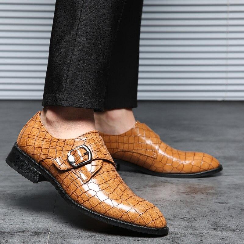 Men's Shoes Useful Alligator China Designer Brand Male Brown Dress Italian Crocodile Skin Leather Office Social Cheap Cocodrilo Formal Shoe For Men 2019 New Fashion Style Online