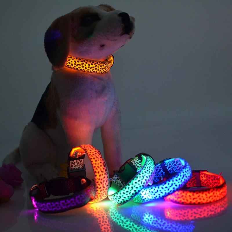New Pets luminous collar LED night light dog collar Hot Sale
