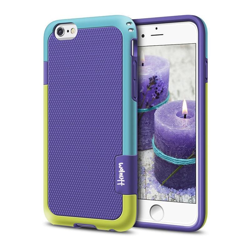 Противоударный Гибридный Силиконовый противоударный чехол для funda iPhone 6S 7Plus 7 8 Plus Xs Max XR Противоскользящий чехол для iPhone 11 Pro Max - Цвет: Purple