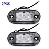 white car 2Pcs Set White 12V LED Car Side Marker Tail Light 24V Trailer Truck Lamp (3)