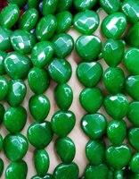 Оптовая продажа jade сердце любовь граненый Бусины вишня Фиолетовый Горячий красный зеленый синий сапфир черный, белый цвет смешанный принят...