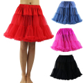 Fluffy Wedding Accessories Short Petticoat Women's Underskirt Ball Gown Rockabilly Chiffon Ruffle Pettiskirt Tutu Petticoats