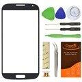 Серый/Синий/Коричневый Переднее Стекло Объектива Для Samsung Galaxy S4 SIV I9500 i337 L720 С Ящик для Инструментов Наклейка Для Сломанной Замена экрана