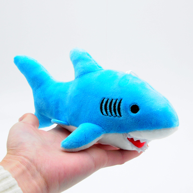 18cm Cute Shark Plush Toys Kawaii Bag Backpack Pendant Keychain Stuffed Animals Kids Toys for Children Birthday Gift Doll rabbit plush keychain cute simulation rabbit animal fur doll plush toy kids birthday gift doll keychain bag decorations stuffed