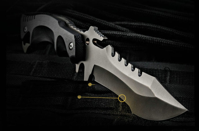 Survival Army Knife 58hrc Hardness Straight Knives Essential tool For Self-defense or Outdoor
