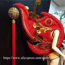 Новые Китайские ветер Red Wings одежда секрет Catwalk DS сценический костюм Одежда для танцев пикантные женские Вечеринка платье