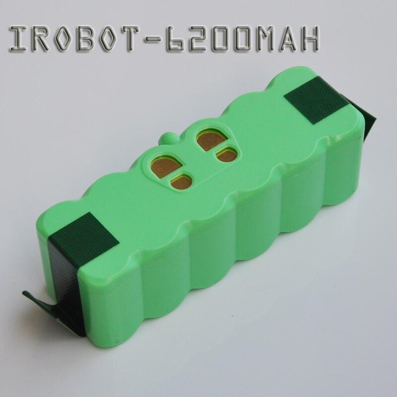 14.8 V 6200 mAh Li-ion Célula de Bateria Recarregável Pacote de Vácuo Varrendo Robô Aspirador para Irobot Roombai 500 600 700 800 série