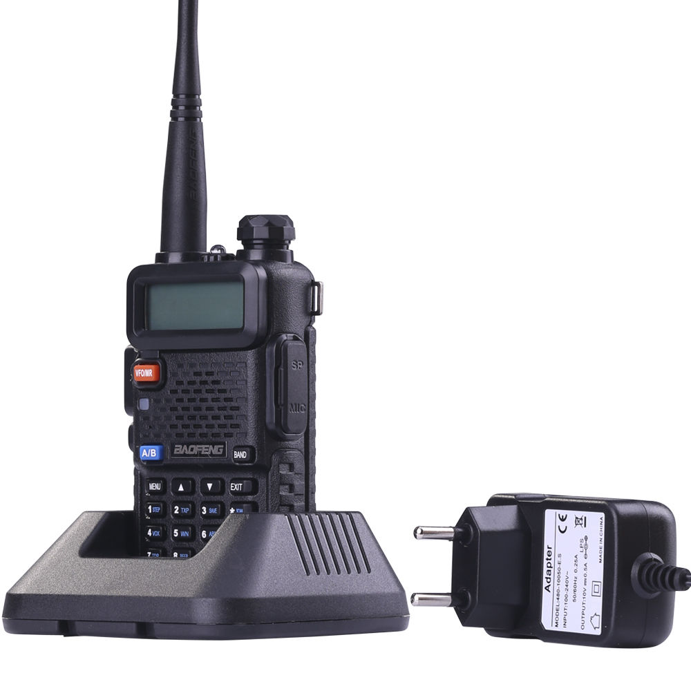 Radio Set Portable BaoFeng UV-5R 5W Dual Band VHF / UHF Handheld Dua Arah Radio CB Walkie Talkie Ham Radio Communicator Transceiver