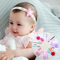10 Set/Dozen Newborn Elastic Hair Bands Kids Kawaii Hair Bows Accessories Suit for Princess Girls Birthday Party