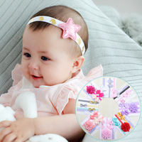 10 Set/Dozen Newborn Elastic Hair Bands Kids Kawaii Hair Bows Accessories Suit for Princess Girls Birthday Party