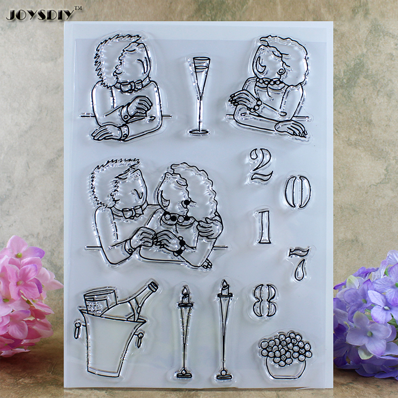 Anniversary Love Forever Scrapbook DIY photo cards account rubber stamp clear stamp transparent stamp card DIY stamp 24*17cm love love love 50th anniversary mono edition