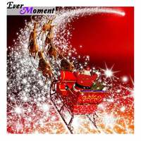 Ever Moment Full Square Drill Diamond Painting Christmas Santa Claus Elk Home Decoration Picture Mosaic Rhinestone 5D DIY S2F199