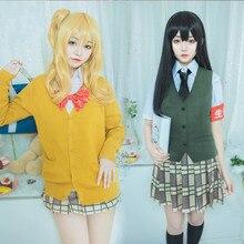 Cosplay Costume Anime Citrus Vest/sweater Yuzu/aihara Stockings Shirt Outfit Mei-Uniform