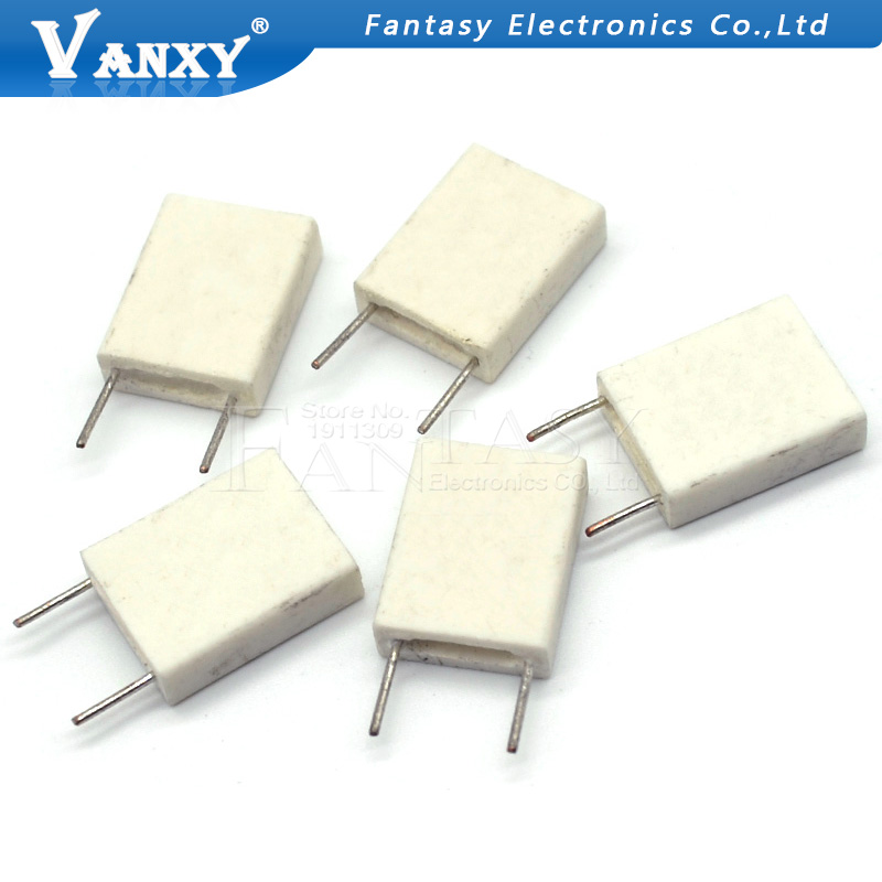 Image 3 - 100pcs BPR56 5W 0.1 0.15 0.22 0.25 0.33 0.5 ohm Non inductive Ceramic Cement Resistor 0.1R 0.15R 0.22R 0.25R 0.33R 0.5R-in Resistors from Electronic Components & Supplies