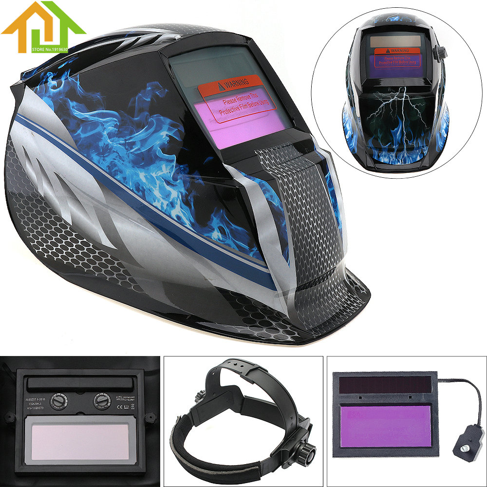 Face Mask / Electric Welding Mask Adjust Solar Auto Darkening TIG MIG Grinding Welding Helmets ck tech auto darkening welding helmets electric welding hood mask tig mig arc welding face shields optical filter 3116