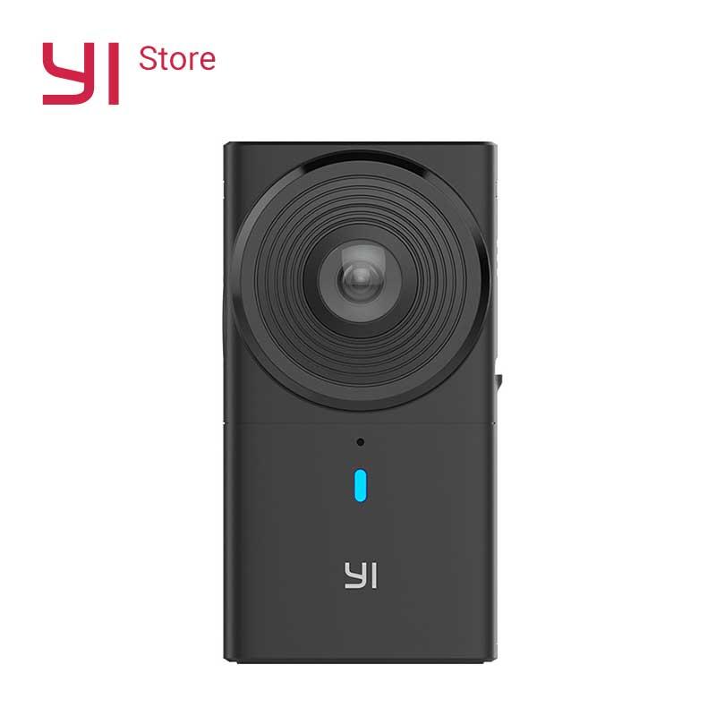 YI 360 VR Câmera Cam 220 graus de Lente Dupla 5.7 K/30fps Câmera Digital Câmera Panorâmica Imersiva Sem Esforço