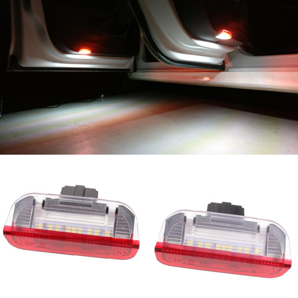 No error LED Car Door Warning Light Courtesy Under Door Lamp For VW Passat B6 B7 Golf 5 6 7 GTI Jetta MK5 CC Tiguan