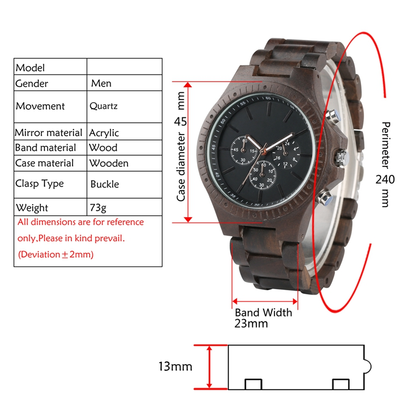 Retro Wood Men Watches Clock Man Gear Cover Top Brand Luxury Stylish Chronograph Watches Timepieces Relogio Masculino 2019 2020 2022 (6)