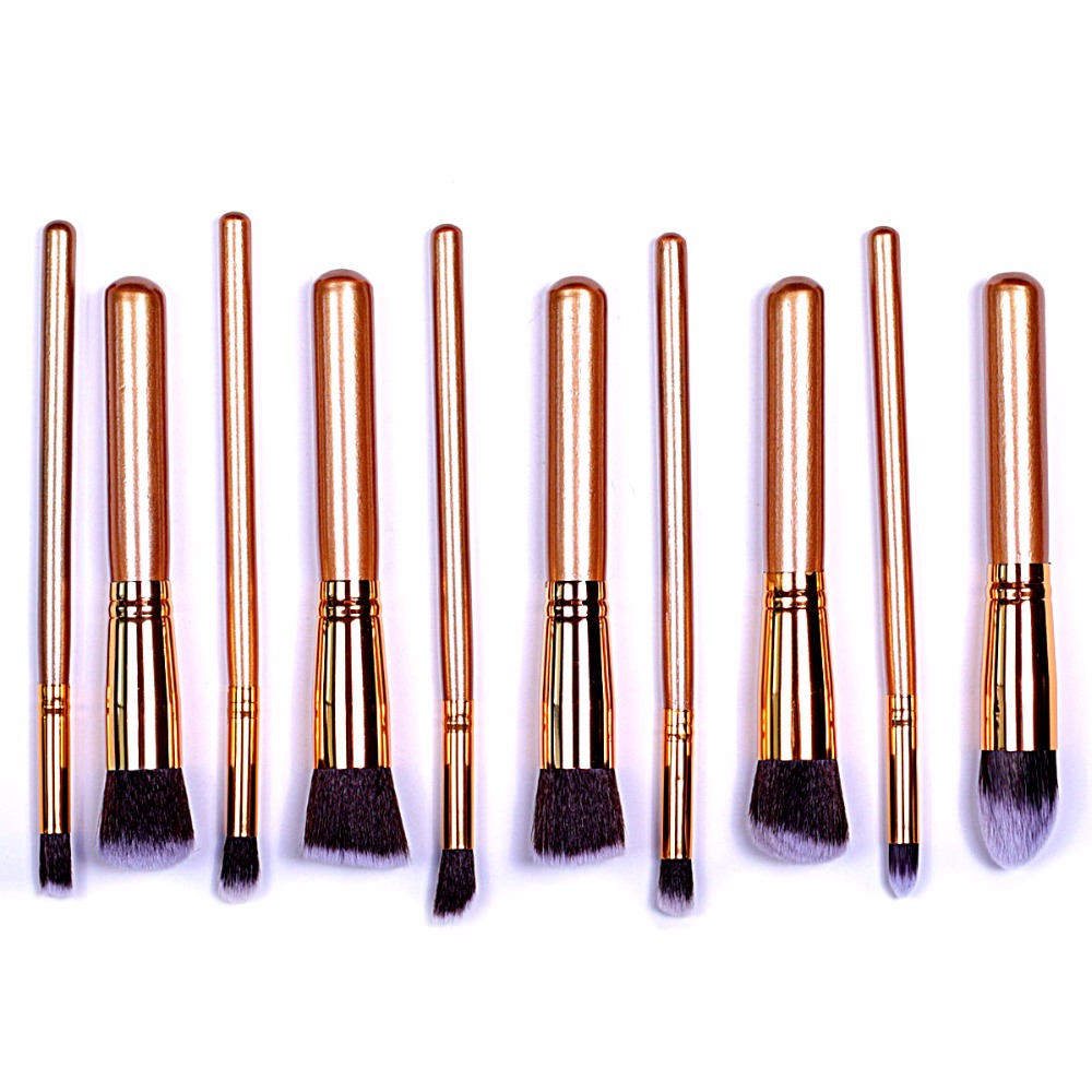 2017 Superior Professional Soft Cosmetic Make up Brush Set Woman's Toiletry Kit beauty makeup brushes professional bullet style cosmetic make up foundation soft brush golden white