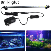 18/28/38/48CM Aquarium Fish Tank LED Light SMD 5050 Waterproof Submersible Aquarium Bar Strip Lamp Light Blue/White