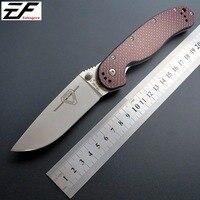 High Quality RAT Folding Knife AUS 8 Steel Blade Pocket Knife Carbon Fiber Handle Tactical Knife
