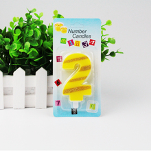 New Arrival, High qualiy 1-9 digital birthday candles Creative Romantic Candle Birthday Cake Candles,Free shipping.