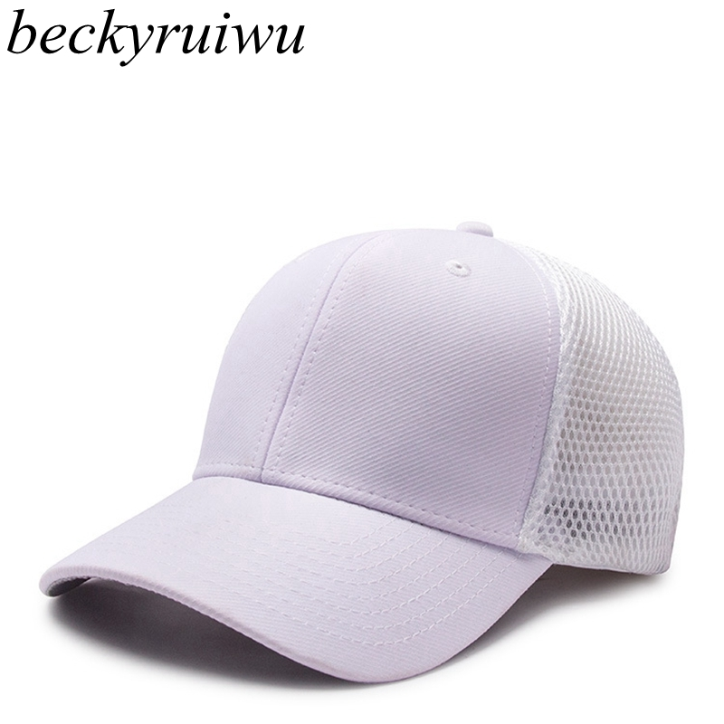 Logo customized plain mesh trucker   cap   full close blank   cap   women leisure sun hat men's fitted   baseball     caps   56cm 58cm