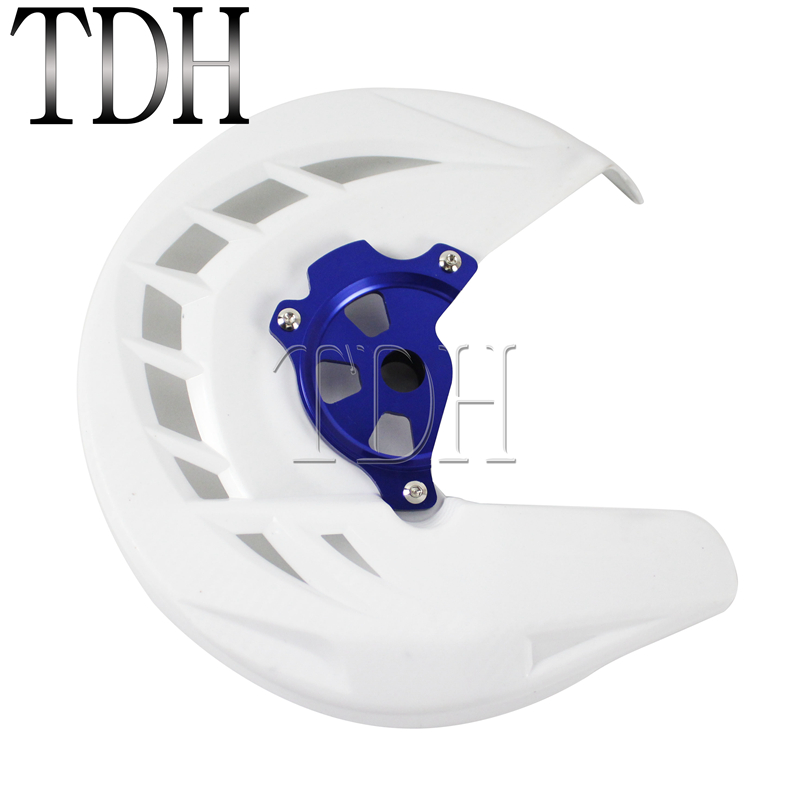 Motorcycle X-Brake Rotor Guards White Front Brake Disc <font><b>Protector</b></font> Cover Motocross Dirt Bike For <font><b>Yamaha</b></font> YZ <font><b>WR</b></font> 125 <font><b>250</b></font> 450 426 image