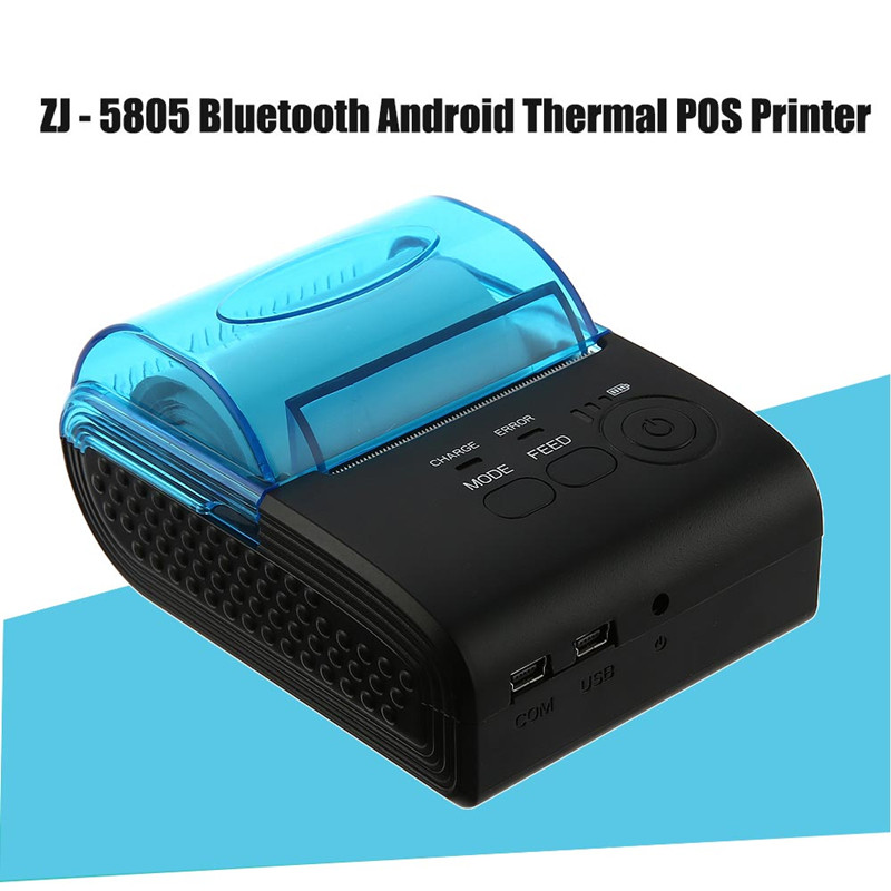ZJIANG ZJ-5805 Pos Terminal 58mm Bluetooth Android 4.0 POS Réception Imprimante Thermique Machine À Bill Pour Supermarché L'UE/NOUS /ROYAUME-UNI PLUG