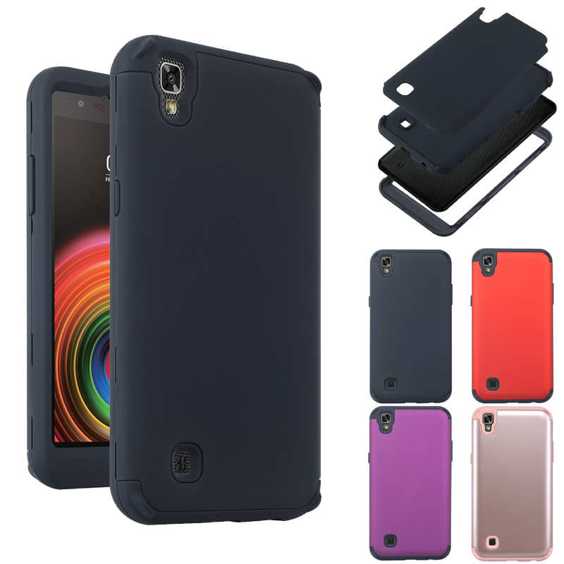 Shockproof Tough Hybrid Armor Drop Protection Case Cover For LG X PowerShockproof Tough Hybrid Armor Drop Protection Case Cover For LG X Power