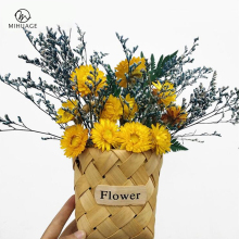 MiHuaGe Natural Dried Flowers Little Daisy Simulation Decoration Artificial Preserved Flower Dry Wedding Party Decor