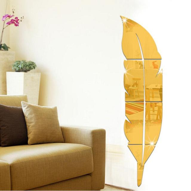 1 set cermin dinding decal wall sticker removable bulu cermin