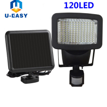 U-EASY 120 led Solar Light LED Flood Security Solar Garden Light with PIR Motion Sensor Wall Lamps Outdoor Emergency Spot Lamp