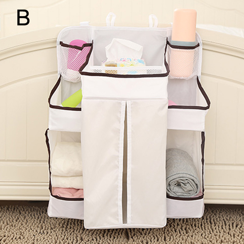 Portable Baby Bed Hanging Storage Bag Waterproof Toy Diapers Pocket Bedside Organizer Infant Crib Bedding Set @LS