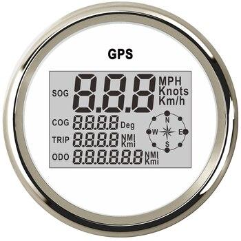 85mm Digitale GPS Tacho Auto Kilometerzähler 0 ~ 999 Knoten kmh mph Für Marine Boot Lkw Motorrad Auto Mit hintergrundbeleuchtung 12 V/24 V