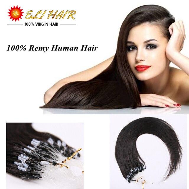 Free Shipping 100 Percent Brazilian Remy Human Hair Micro Ring Hair