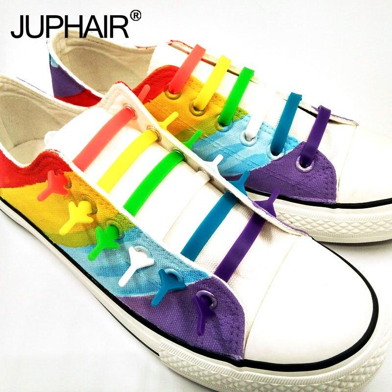 کفش جدید 1 مجموعه (16 قطعه) کفش تابستانی بند کفش بند کفش ورزشی تخت دستبند بوم دستبند بوم تفریحی کفش ورزشی سیلیکون الاستیک