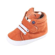 1 pair of autumn baby shoes kids boy girl fox head cotton first walker non-slip soft soles children's sneakers
